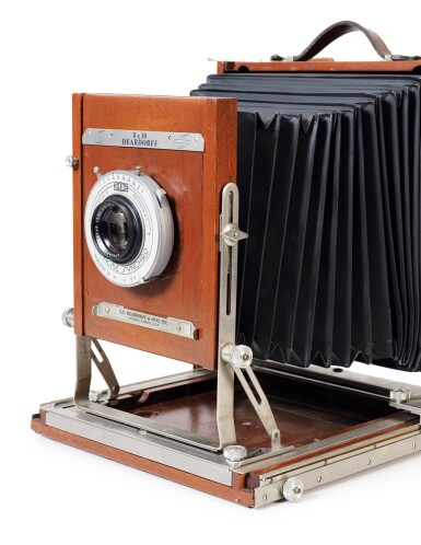 View 4. Thumbnail of Lot 9. Large format Studio Camera of Paolo Roversi, L.F. Deardroff & Sons Wood Field.