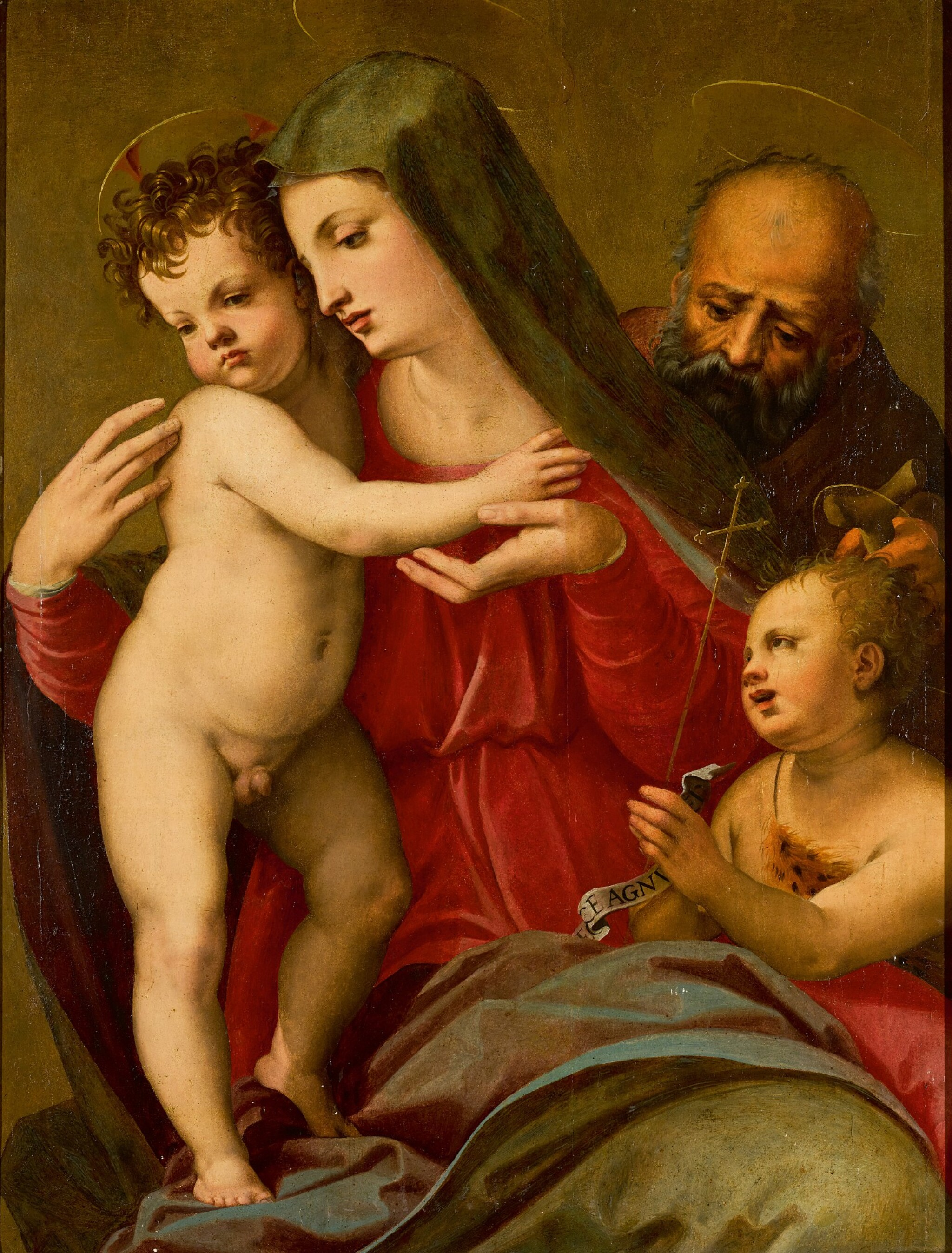 View 1 of Lot 108. The Holy Family with the young Saint John the Baptist.