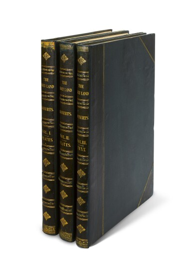 View 5. Thumbnail of Lot 150. ROBERTS   The Holy Land, 1842-1849, 3 volumes, deluxe edition.