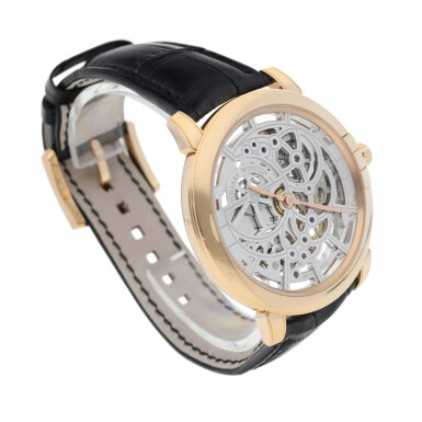 View 3. Thumbnail of Lot 91. HARRY WINSTON   REFERENCE 450-MAS42R MIDNIGHT SKELETON A PINK GOLD SKELETONIZED AUTOMATIC WRISTWATCH, CIRCA 2015.