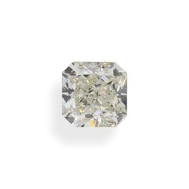 A 5.12 Carat Cut-Cornered Square Modified Brilliant-Cut Diamond, L Color, VS2 Clarity