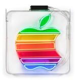 Original Neon Rainbow Apple Logo Sign