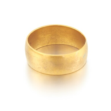 View 4. Thumbnail of Lot 2. Sylvia Plath and Ted Hughes | Pair of gold wedding rings.