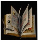 NETHERLANDISH SCHOOL, CIRCA 1615-1625 | STILL LIFE OF AN ILLUMINATED MANUSCRIPT