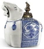 A BLUE AND WHITE 'ELEPHANT' KENDI MING DYNASTY, WANLI PERIOD | 明萬曆 青花象首軍持