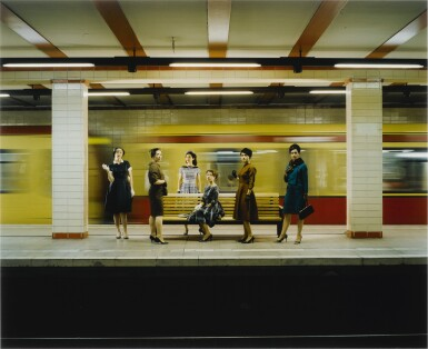 View 1. Thumbnail of Lot 46. EVE SUSSMAN   WOMEN IN THE S-BAHN (FROM THE RAPE OF THE SABINE WOMEN).