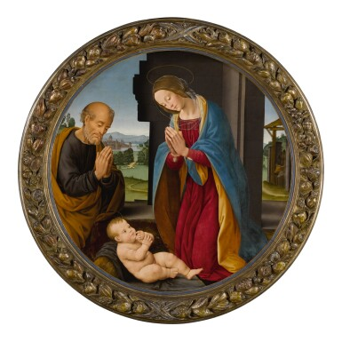 View 2. Thumbnail of Lot 3. Adoration of the Christ Child.