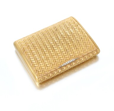 View 1. Thumbnail of Lot 51. Diamond cigarette case (Portasigarette in diamanti ).