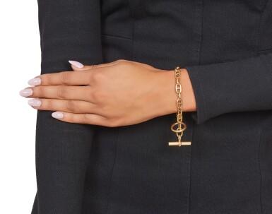 View 3. Thumbnail of Lot 488. Hermés   Gold 'Chaine D'Ancre' Bracelet, Paris.