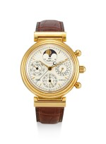 IWC | DA VINCI TOURBILLON, REFERENCE IW375203, A LIMITED EDITION YELLOW GOLD PERPETUAL CALENDAR CHRONOGRAPH TOURBILLON WRISTWATCH WITH MOON PHASES AND LEAP YEAR INDICATION, MADE TO COMMEMORATE THE MILLENNIUM, CIRCA 2000