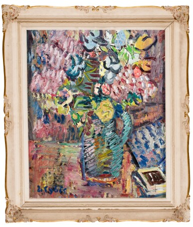 View 2. Thumbnail of Lot 54. JAN CYBIS | STILL LIFE WITH FLOWERS.