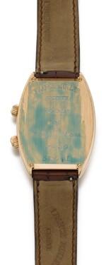 FRANCK MULLER | CURVEX BIG BEN, REFERENCE 5850 AL, PINK GOLD TONNEAU-SHAPED ALARM WRISTWATCH, CIRCA 2000