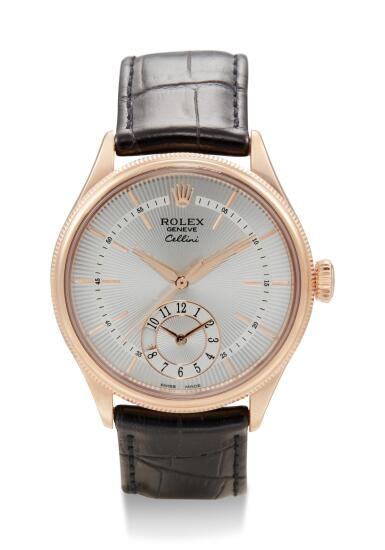 View 1. Thumbnail of Lot 8059. ROLEX | CELLINI DUAL TIME, REFERENCE 50525,  A PINK GOLD DUAL TIME ZONE WRISTWATCH WITH DAY AND NIGHT INDICATION, CIRCA 2014.