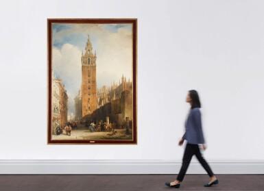 View 4. Thumbnail of Lot 159. DAVID ROBERTS, R.A. |  THE MOORISH TOWER AT SEVILLE, CALLED THE GIRALDA.