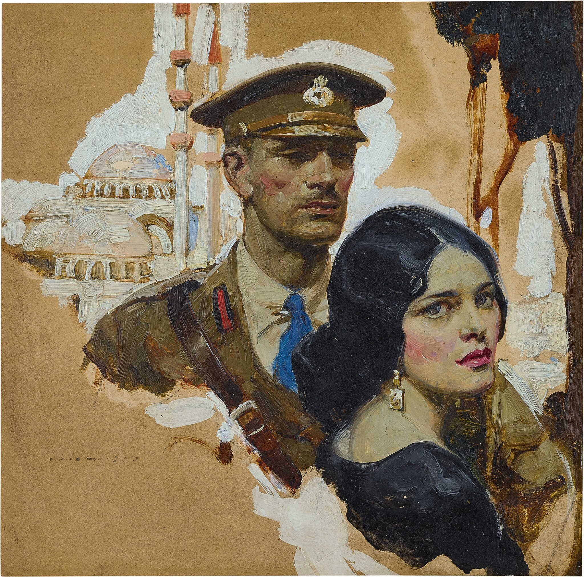 View 1 of Lot 88. Untitled (Soldier and Woman).