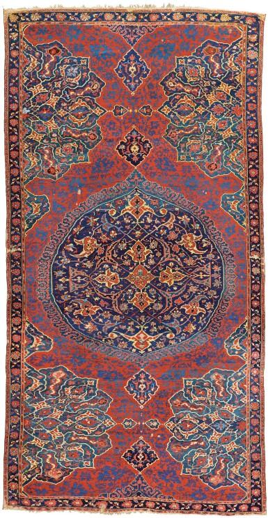 View 1. Thumbnail of Lot 270. WEST ANATOLIA, An Oushak 'Medallion' carpet, second half 16th century.