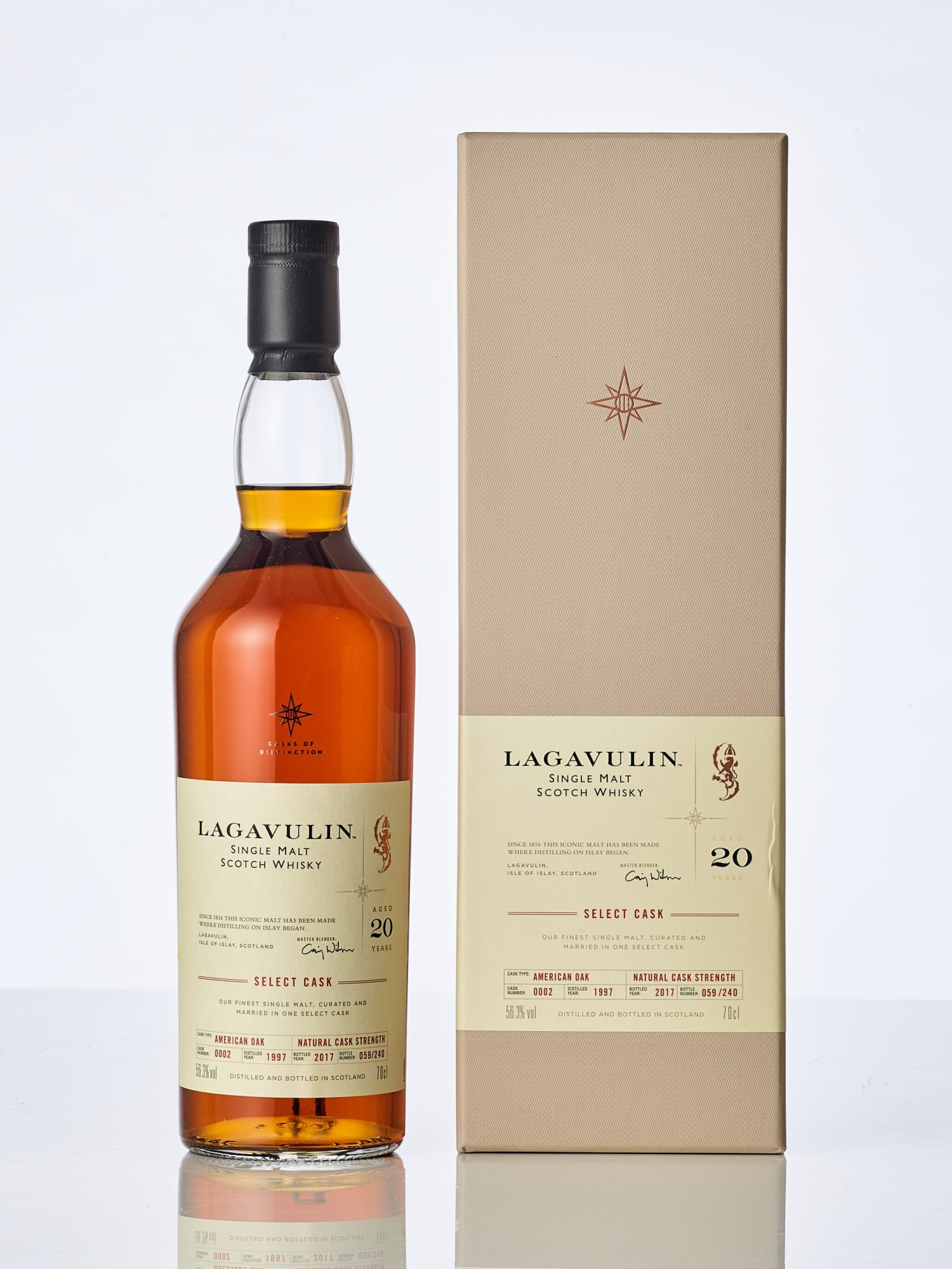 View full screen - View 1 of Lot 2005. Lagavulin Casks of Distinction 20 Year Old 56.3 abv 1997 (1 BT70).