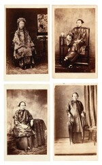 Hong Kong | collection of CDVs, 1860 with album