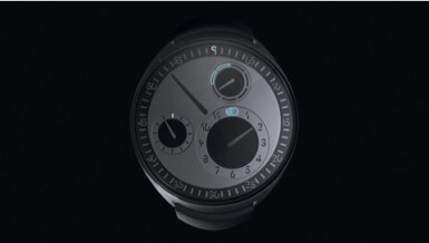 View 2. Thumbnail of Lot 2251. Ressence | Spymaster, A limited edition titanium wristwatch with rotating dial and day of the week indication, with unique NFT digital artwork to celebrate its creation and authenticate it on the blockchain, sold to benefit the Make-A-Wish foundation, Circa 2021 | Spymaster 限量版鈦金屬腕錶,備迴轉錶盤及星期顯示,附帶獨一無二 NFT 非同質化代幣,備數位慶祝畫作及方塊鏈認證,為造福 Make-A-Wish 機構而售,約2021年製.