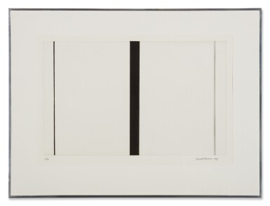 View 2. Thumbnail of Lot 204. BARNETT NEWMAN | UNTITLED ETCHING 1.
