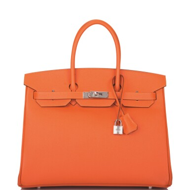 View 1. Thumbnail of Lot 65. Hermès Feu Birkin 35cm of Epsom Leather with Palladium Hardware .