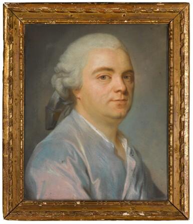 View 1. Thumbnail of Lot 70. Portrait of a Gentleman wearing a blue coat.