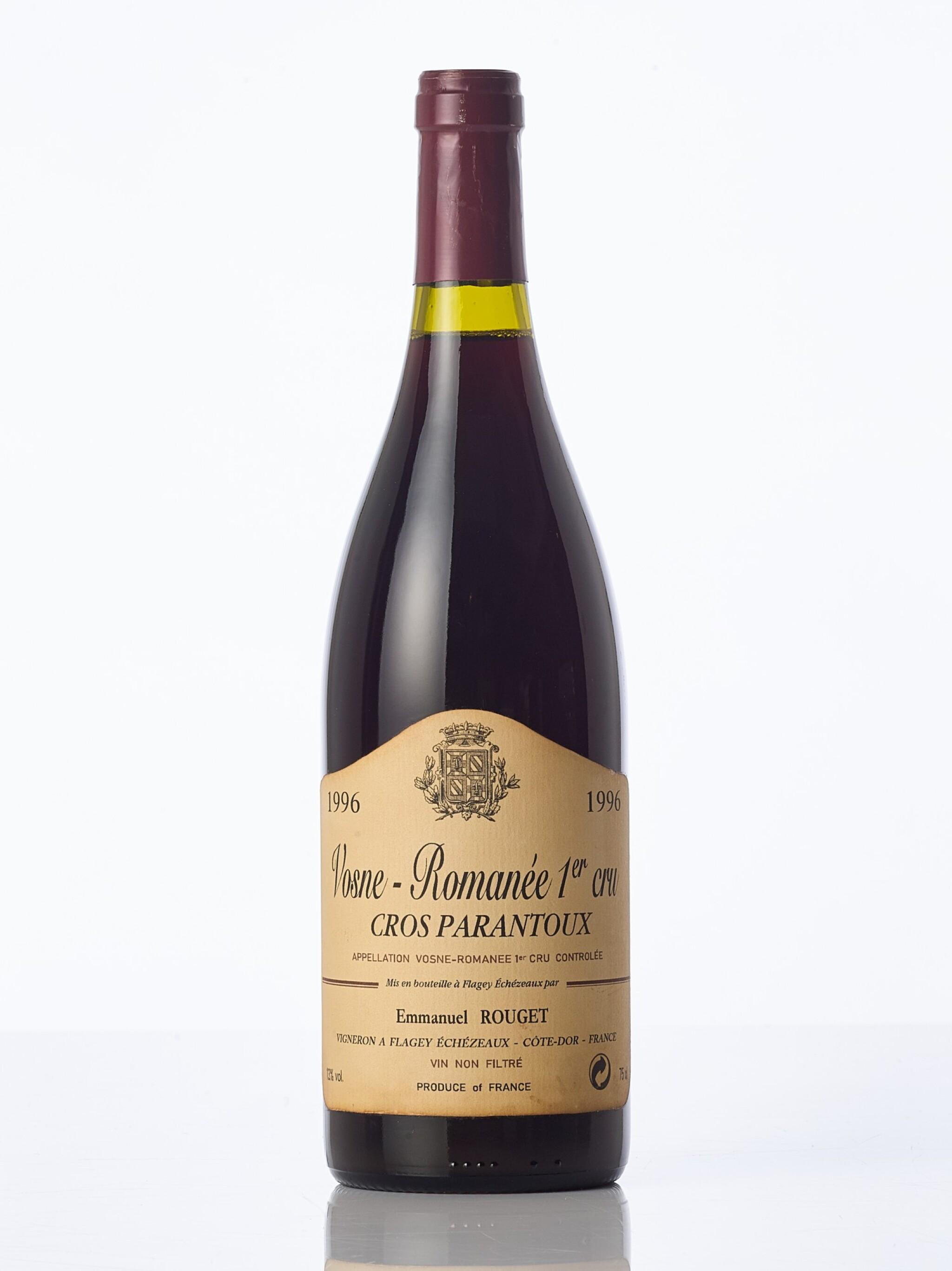 View full screen - View 1 of Lot 6321.  Vosne Romanée, Cros Parantoux 1996 Emmanuel Rouget (1 BT).
