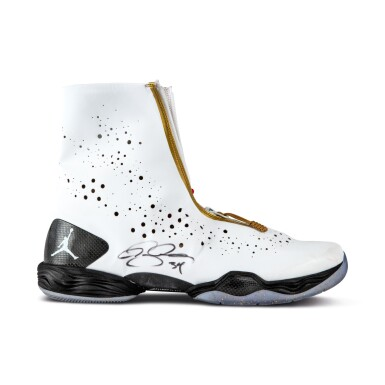 View 8. Thumbnail of Lot 50. Ray Allen Media Day Worn and Signed Air Jordan XXVIII (9/30/2013).