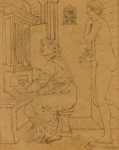View 2. Thumbnail of Lot 13. SIR EDWARD COLEY BURNE-JONES, BT., A.R.A., R.W.S.   STUDIES FOR THE STORY OF PSYCHE.