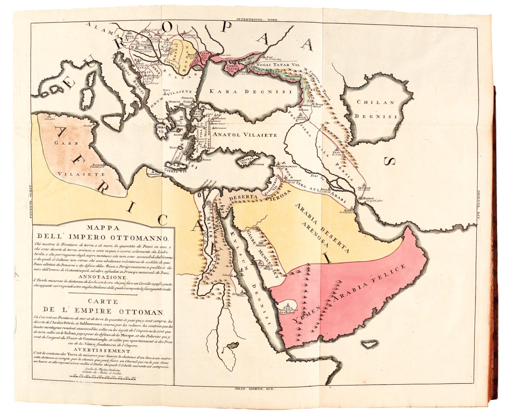 View full screen - View 1 of Lot 303. Marsigli, Stato militare dell'imperio Ottomano, The Hague, 1732, contemporary calf.