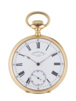 PATEK PHILIPPE | CHRONOMETRO GONDOLO YELLOW GOLD OPEN-FACED WATCH MADE IN 1907
