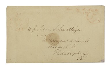 Postmaster's Provisional, Baltimore, MD. 1845 5c Red (3XU2)