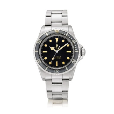 View 1. Thumbnail of Lot 2126. Rolex | Submariner, Reference 5513, A stainless steel wristwatch with gilt dial and bracelet, Circa 1966 | 勞力士 | Submariner 型號5513 精鋼鏈帶腕錶,約1966年製.