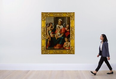 View 4. Thumbnail of Lot 574. The Madonna and Child with Young St. John the Baptist and two angels.