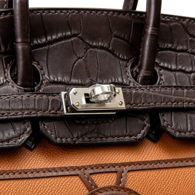 View 6. Thumbnail of Lot 8513. Limited Edition Birkin Faubourg 20cm in Madame, Matte Crocodile, Sombrero, Epsom and Swift Leather with Palladium Hardware, 2020.