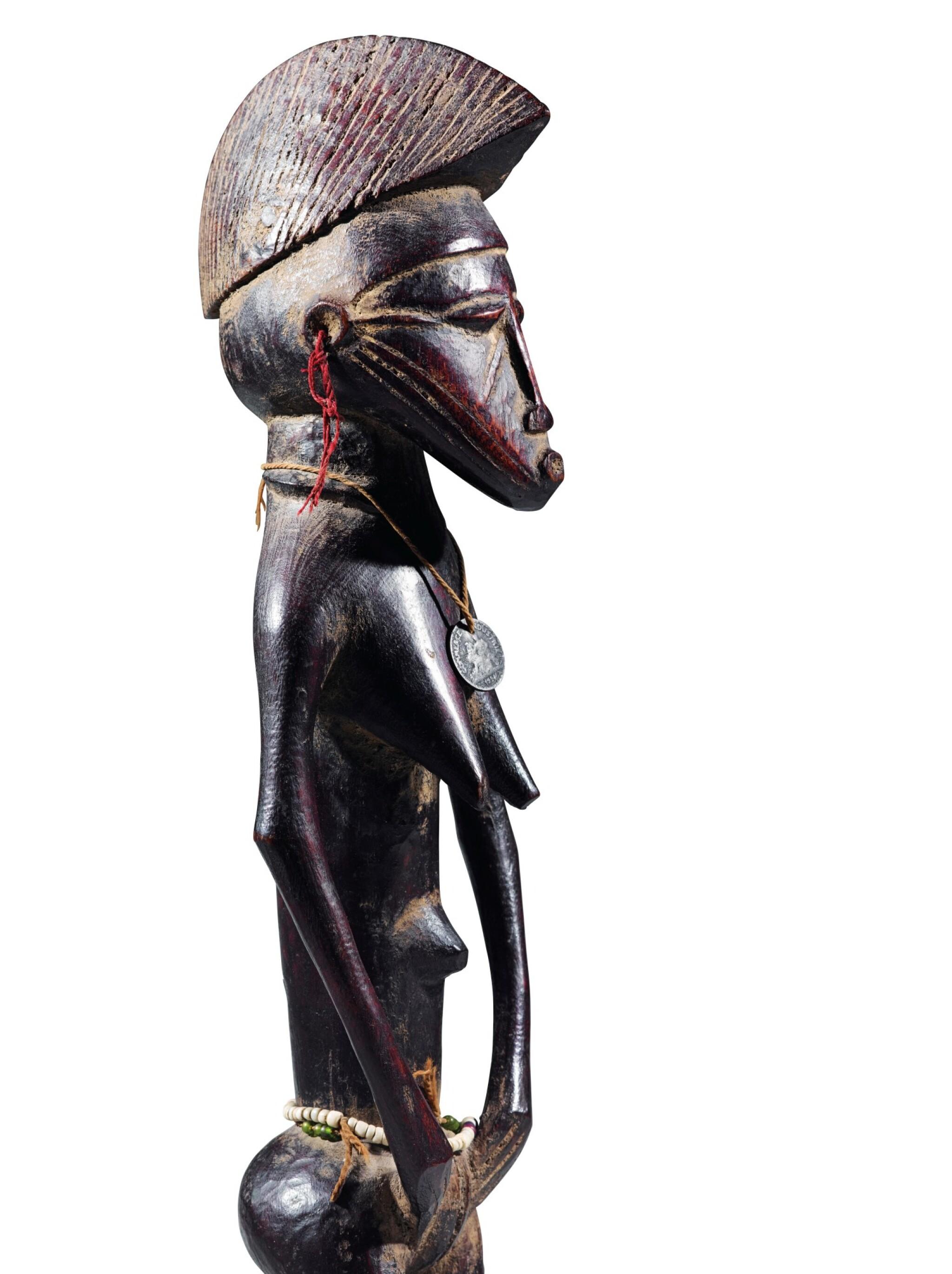 View full screen - View 1 of Lot 27. Statue, Sénufo / Baulé, Côte d'Ivoire | Senufo/Baule figure, Côte d'Ivoire.