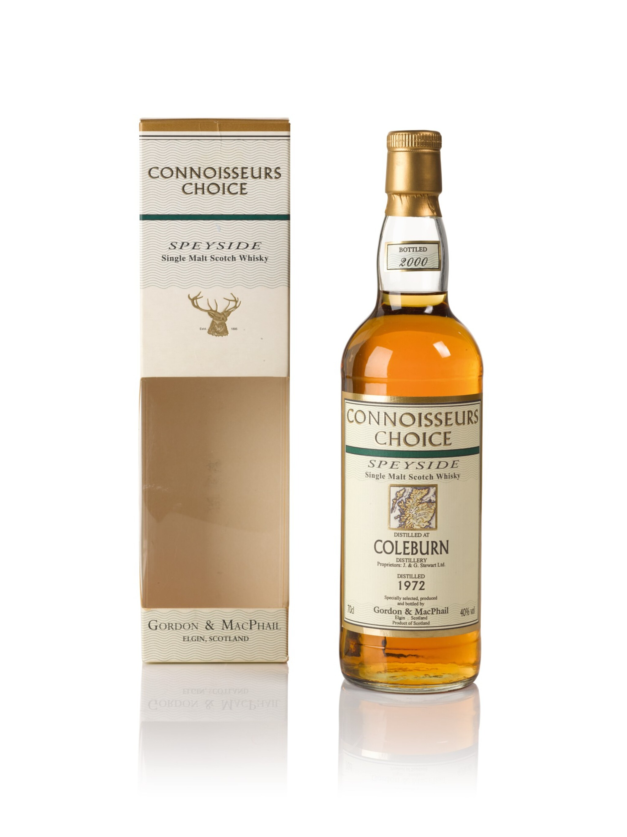 View full screen - View 1 of Lot 185. Coleburn Gordon & MacPhail Connoisseurs Choice 40.0 abv 1972 .
