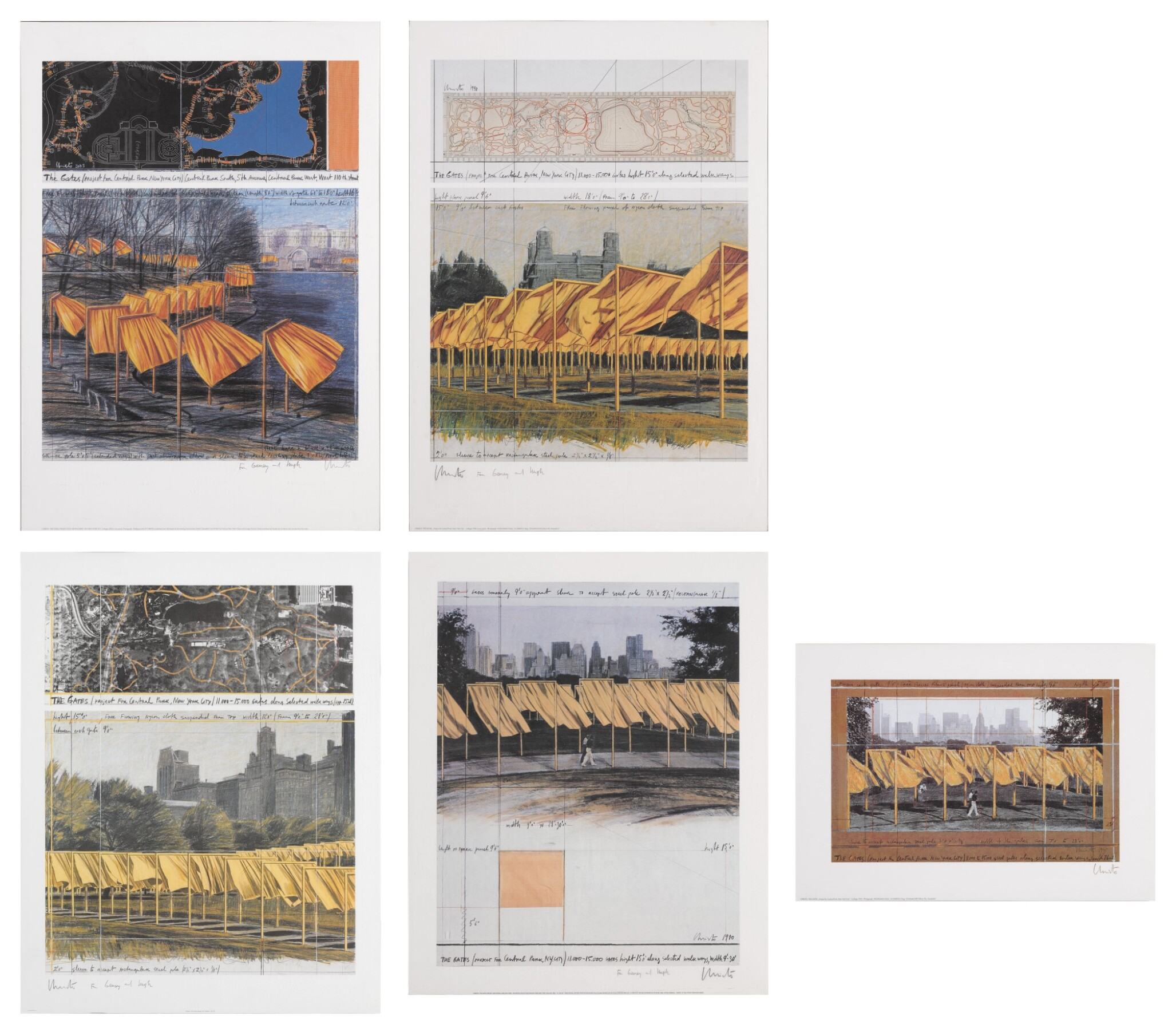 View 1 of Lot 34. The Gates, Project for Central Park, New York City: 5 Prints.
