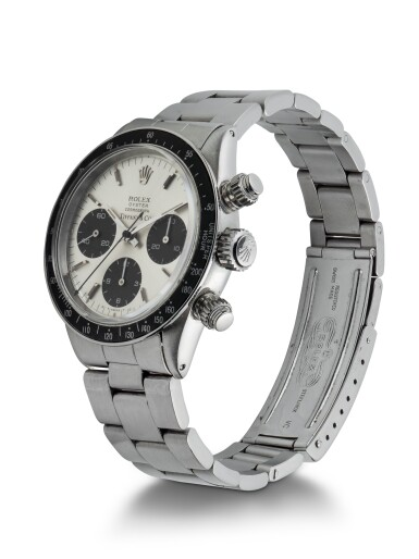 View 2. Thumbnail of Lot 4. ROLEX   DAYTONA, REF 6240 STAINLESS STEEL CHRONOGRAPH WRISTWATCH WITH BRACELET AND LATER TIFFANY DIAL CIRCA 1966.