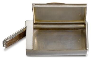 View 3. Thumbnail of Lot 68. A Fabergé silver cigarette case, workmaster Michael Perchin, St Petersburg, circa 1900.