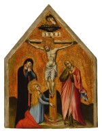 SIMONE DI FILIPPO, CALLED SIMONE DEI CROCIFISSI | CRUCIFIXION WITH THE VIRGIN MARY, MARY MAGDALENE, AND ST. JOHN THE EVANGELIST MOURNING