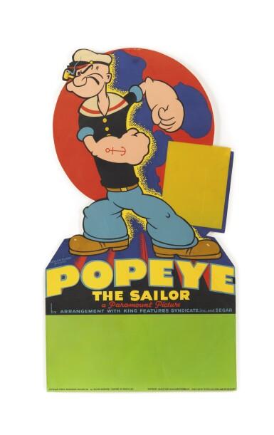 Popeye (1938) standee, US