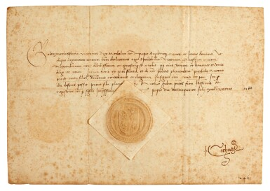 Italian Renaissance. Three documents by ducal scribes, in Italian and Latin, Pavia, 1468 and Ferrara, 1489
