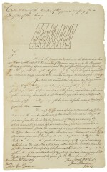 [Continental Army] Autograph letter and manuscript, each signed James Thompson. 30 December 1779, Morristown, New Jersey