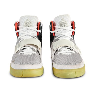 View 9. Thumbnail of Lot 38. Nike Air Yeezy 2 'Mismatch' Sample Signed by Kanye West | Size 12.