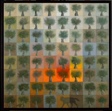View 2. Thumbnail of Lot 61. SULEIMAN MANSOUR | FIRE IN THE FIELD.