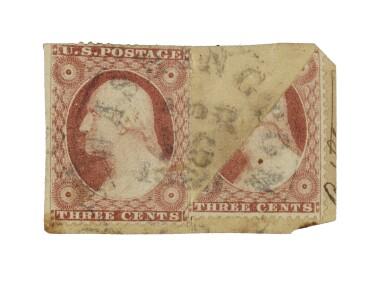 1857 3c Dull Red Diagonal Bisect (26var)