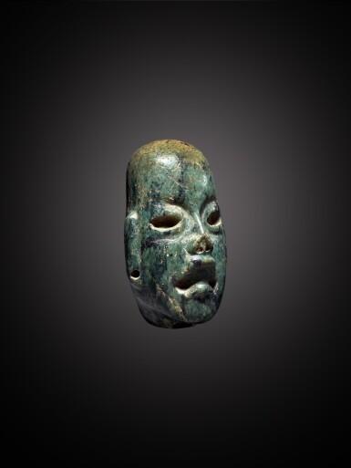 View 3. Thumbnail of Lot 103. Olmec Serpentine Head Middle Preclassic, circa 900 - 300 BC.