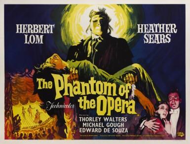 THE PHANTOM OF THE OPERA (1962) POSTER, BRITISH