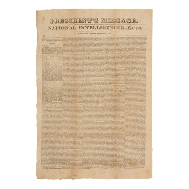 View 1. Thumbnail of Lot 339. Monroe, James | First printing of the Monroe Doctrine.